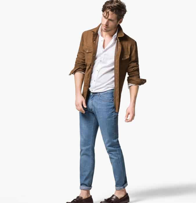 Jeans délavé léger pour hommes - Optez pour Slim, pas skinny, s'adapte