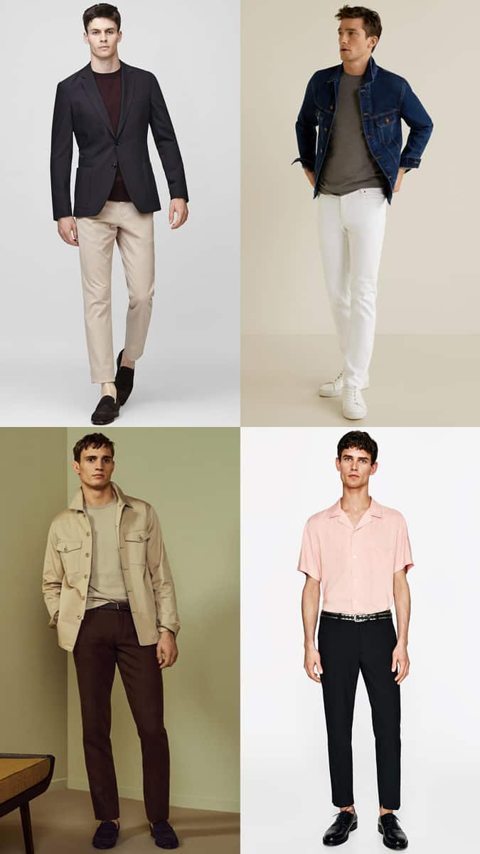 Men's Contrast Separates Outfit Inspiration Lookbook