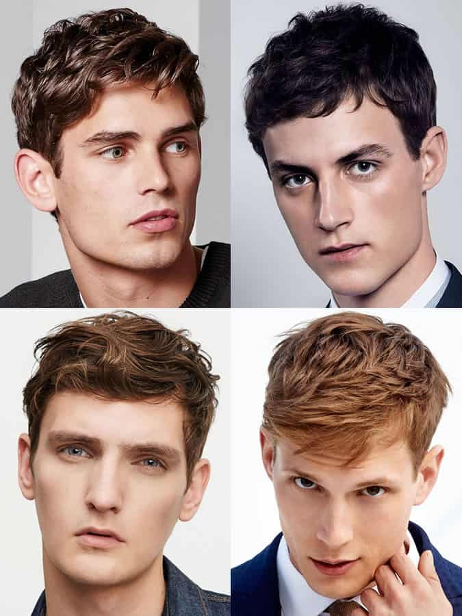 Men's hairstyles/haircuts for Oblong/Rectangle Face Shapes