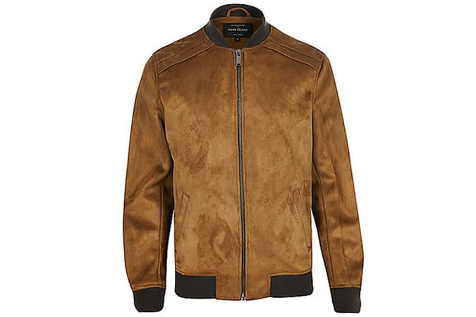 River Island Faux-Suede Bomber Jacket