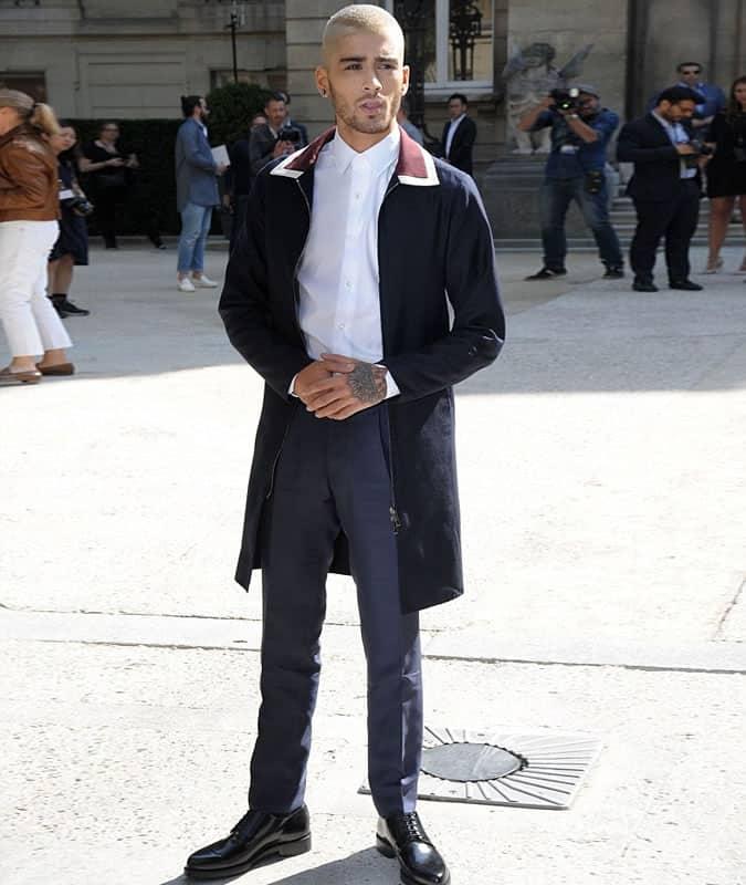 Zayn Malik Louis Vuitton Duster Coat