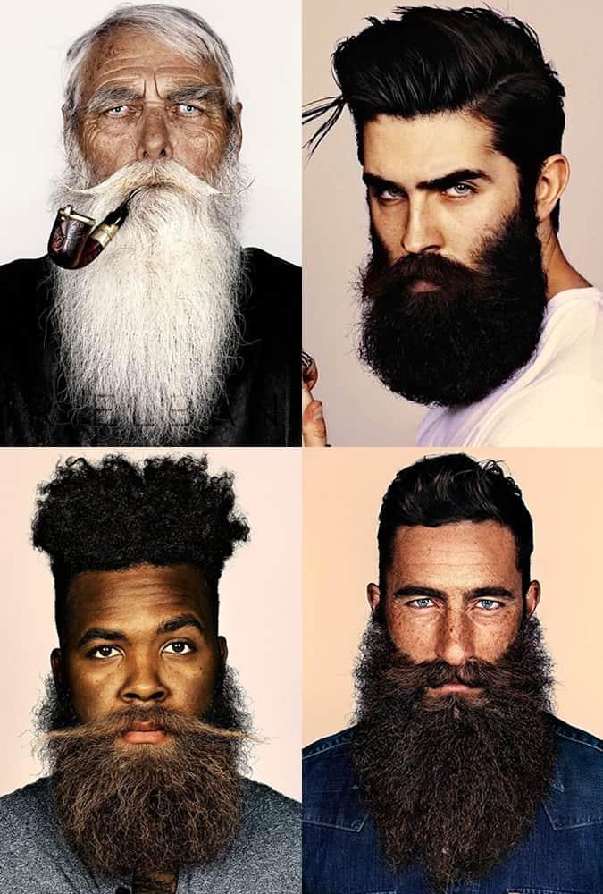 Men's Bushy, Long and Unruly Beards