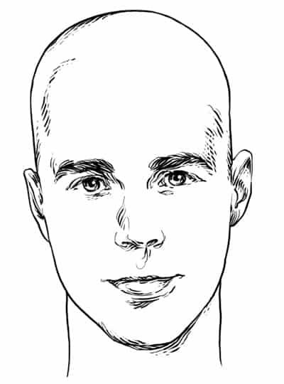 Triangle Face Shape - Men