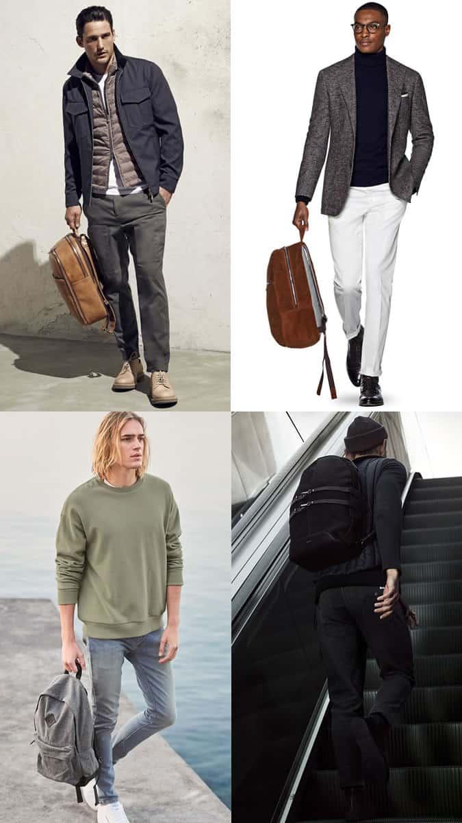 Hommes Sacs à dos et sacs à dos Outfit Inspiration Lookbook 2017 Bag Trends