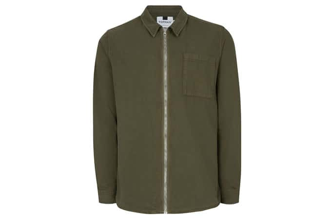 Topman Khaki Shacket