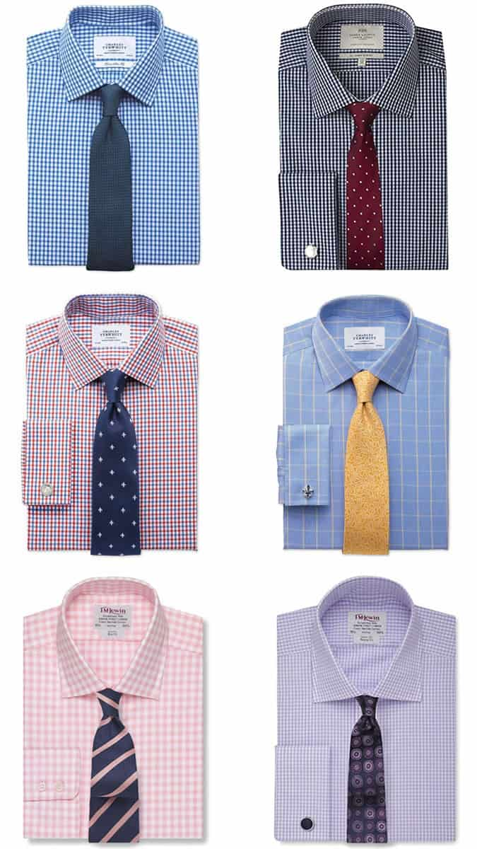 Men's Checked Shirt and Tie Combinations