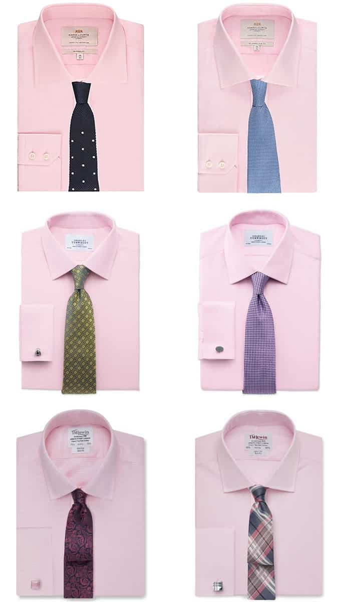Men's Pink Shirt and Tie Combinations