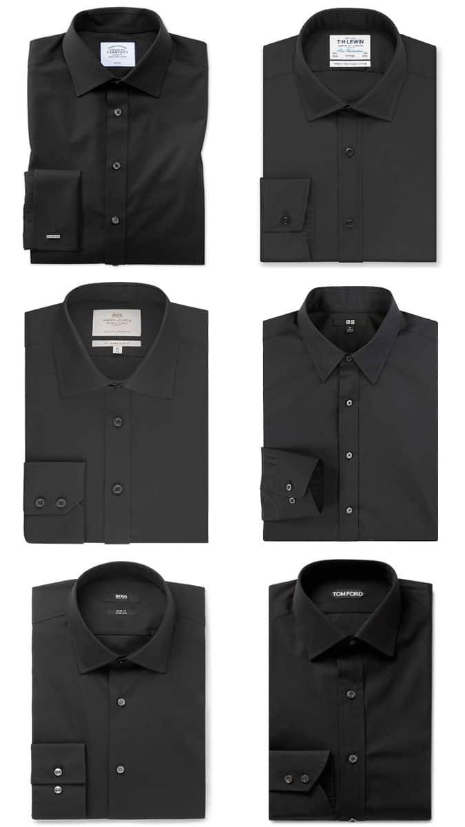 Combinaisons chemise et cravate texturées pour homme