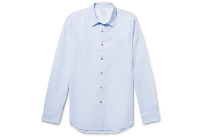Paul Smith Slim-Fit Slub Cotton Shirt