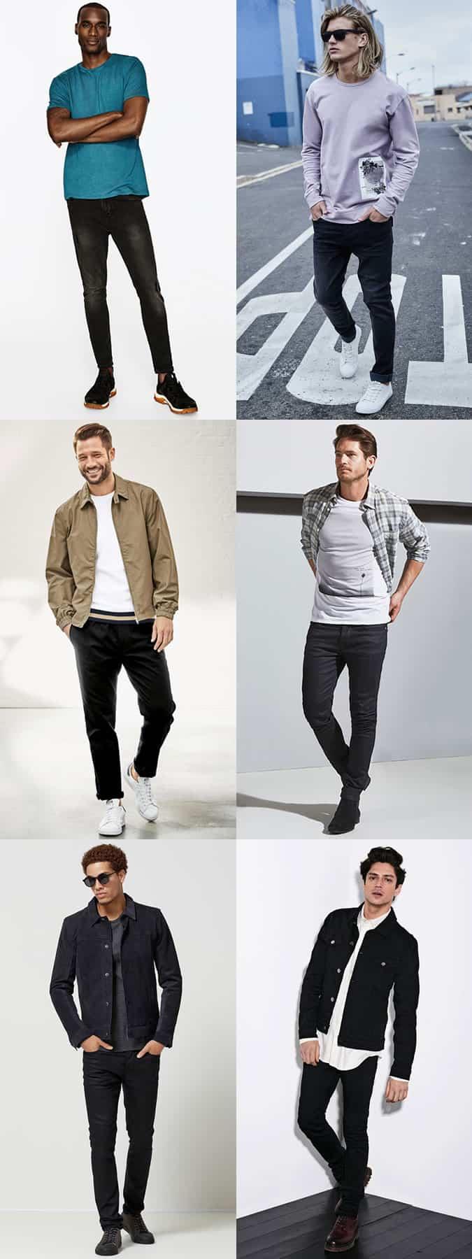 Inspiration pour les jeans noirs pour hommes