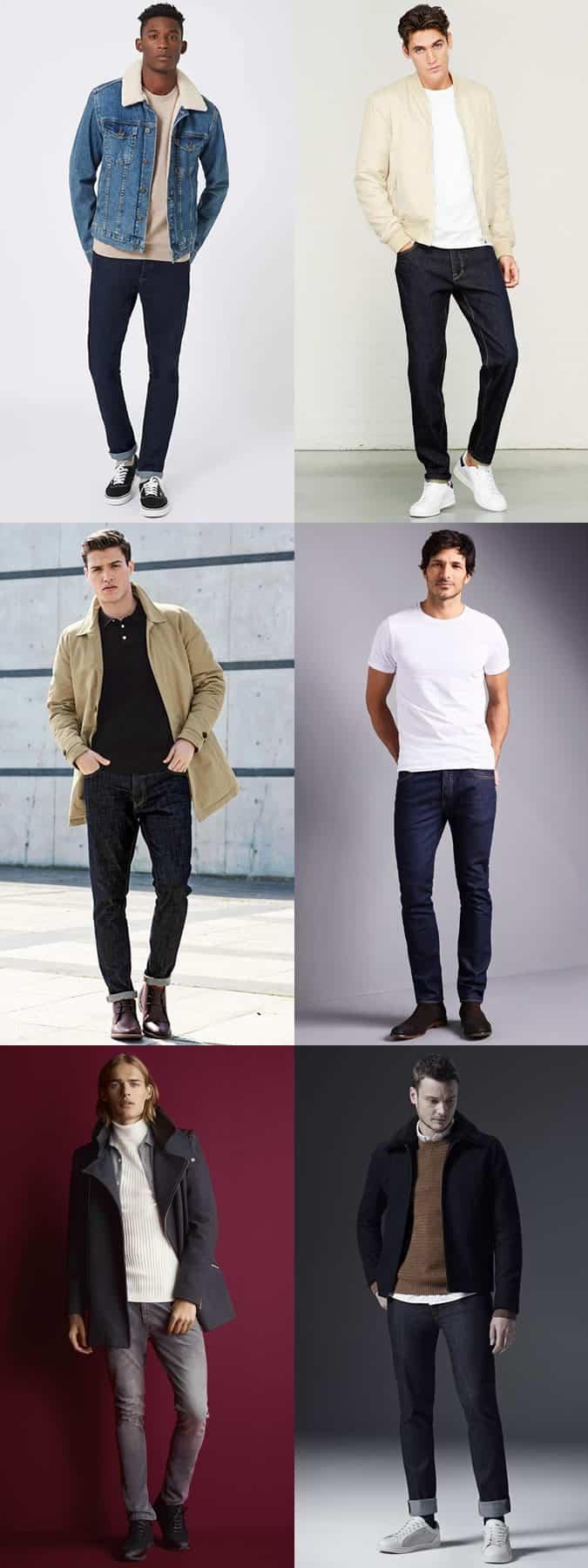 Look Look Inspiration pour homme en jean délavé foncé