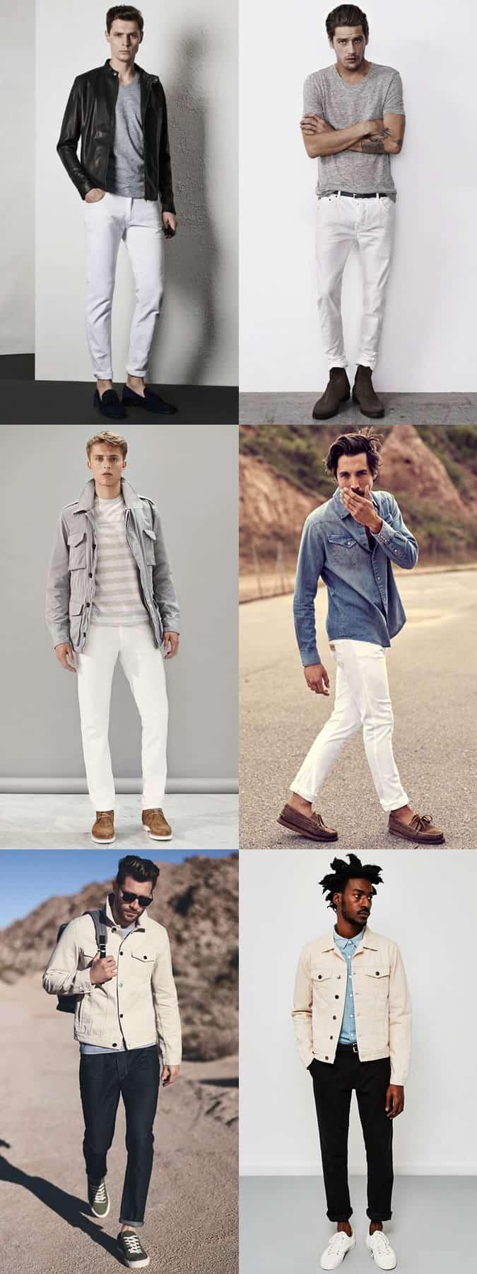 Lookbook Inspiration pour homme en jeans blancs