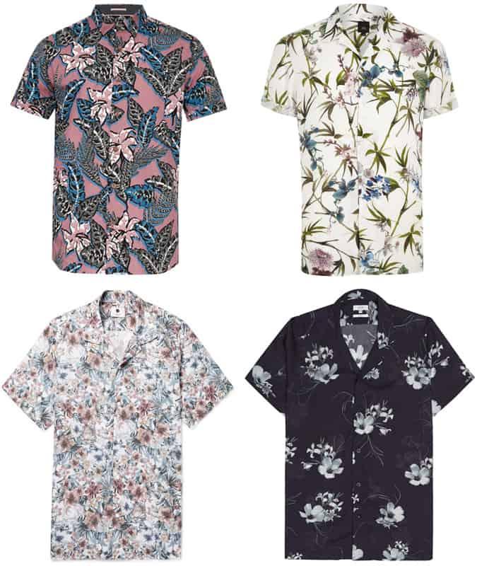 Chemises à fleurs pour hommes