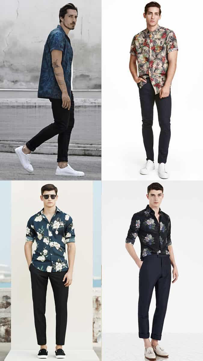 Chemise à fleurs pour hommes Look Inspiration Lookbook