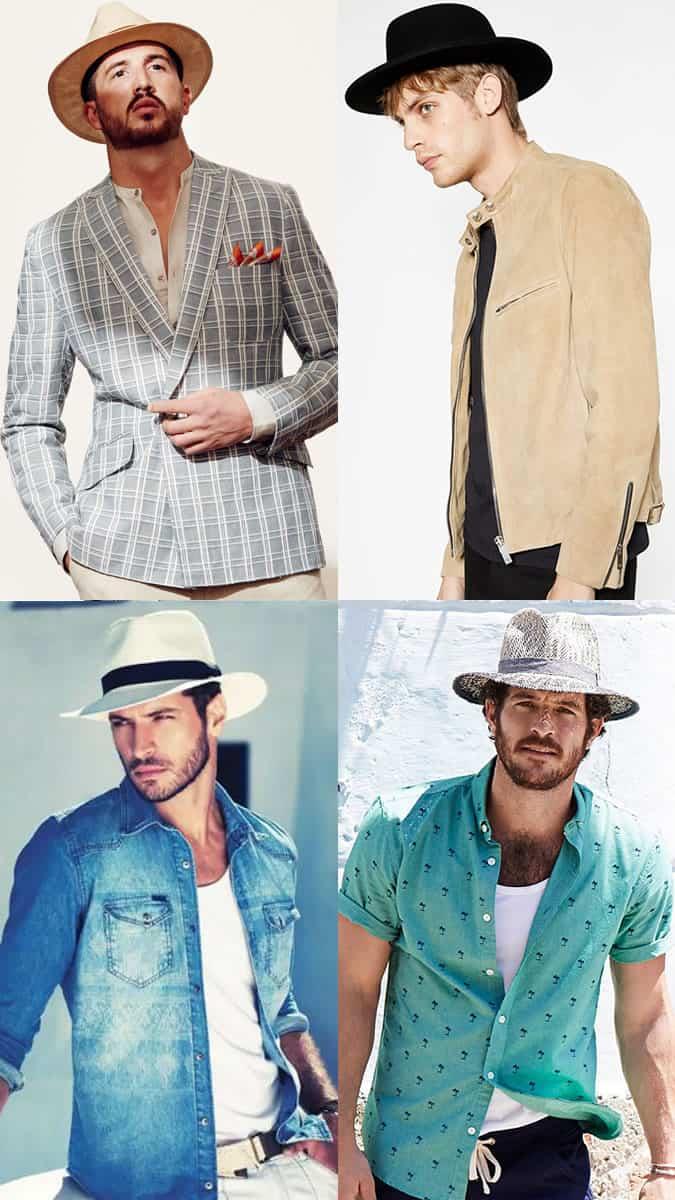 Lookbook d'inspiration pour les chapeaux d'été à large bord pour hommes