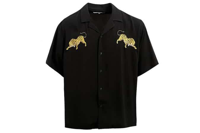 Chemise de vacances noire Loom Tiger