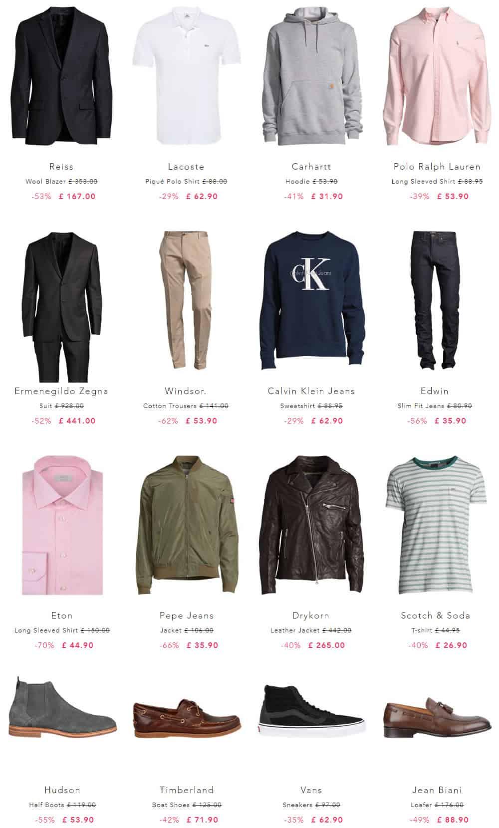 Vêtements de marque pour hommes jusqu'à -80%