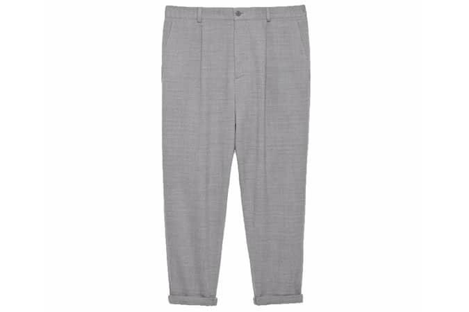 Pantalon court en laine crêpe décontractée COS