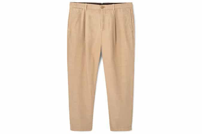 Pantalon court plissé à la mangue