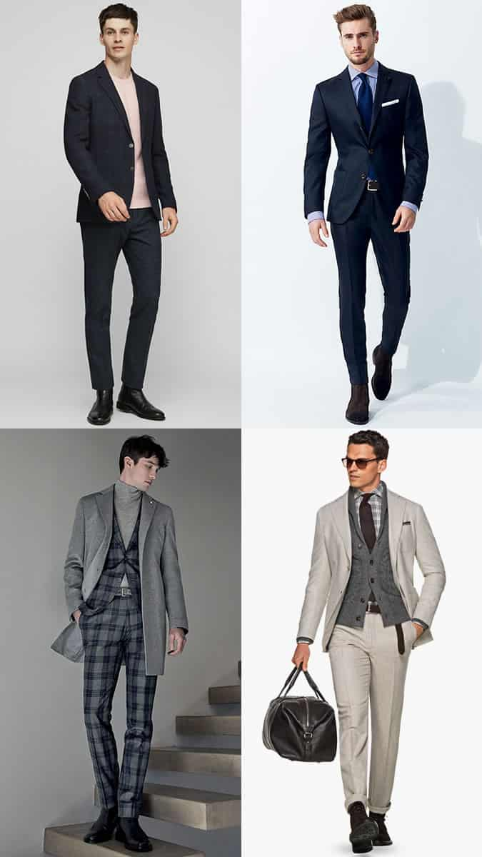 How to wear boots with a suit