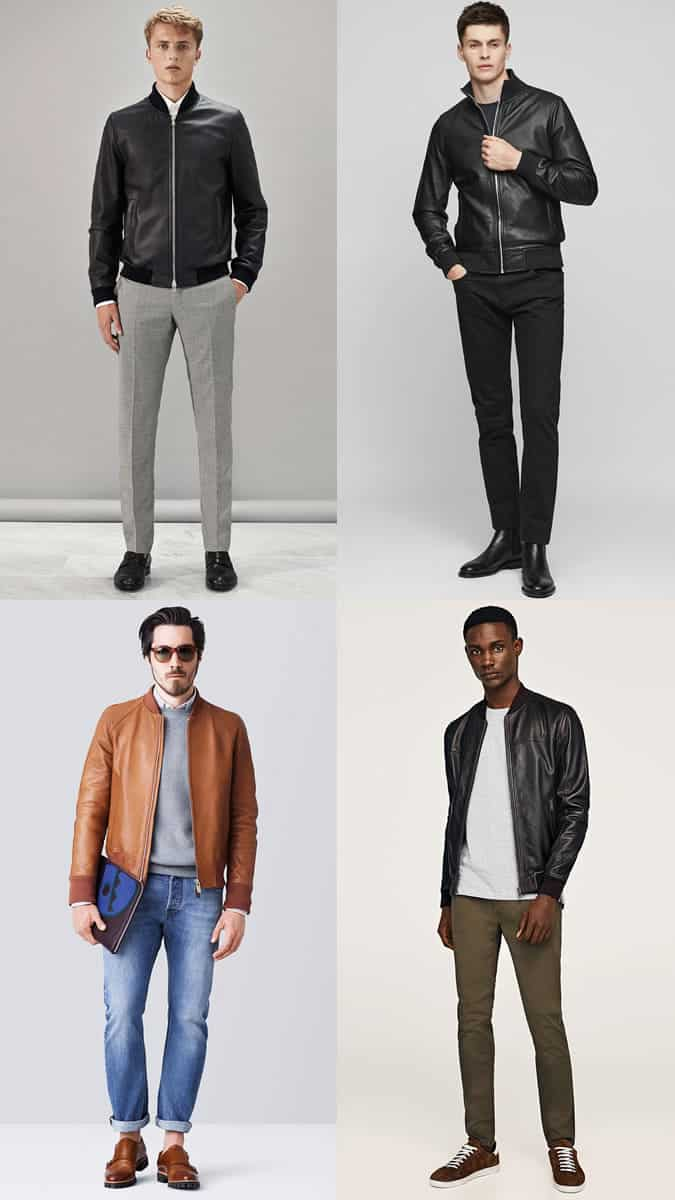 how to wear a leather bomber jacket