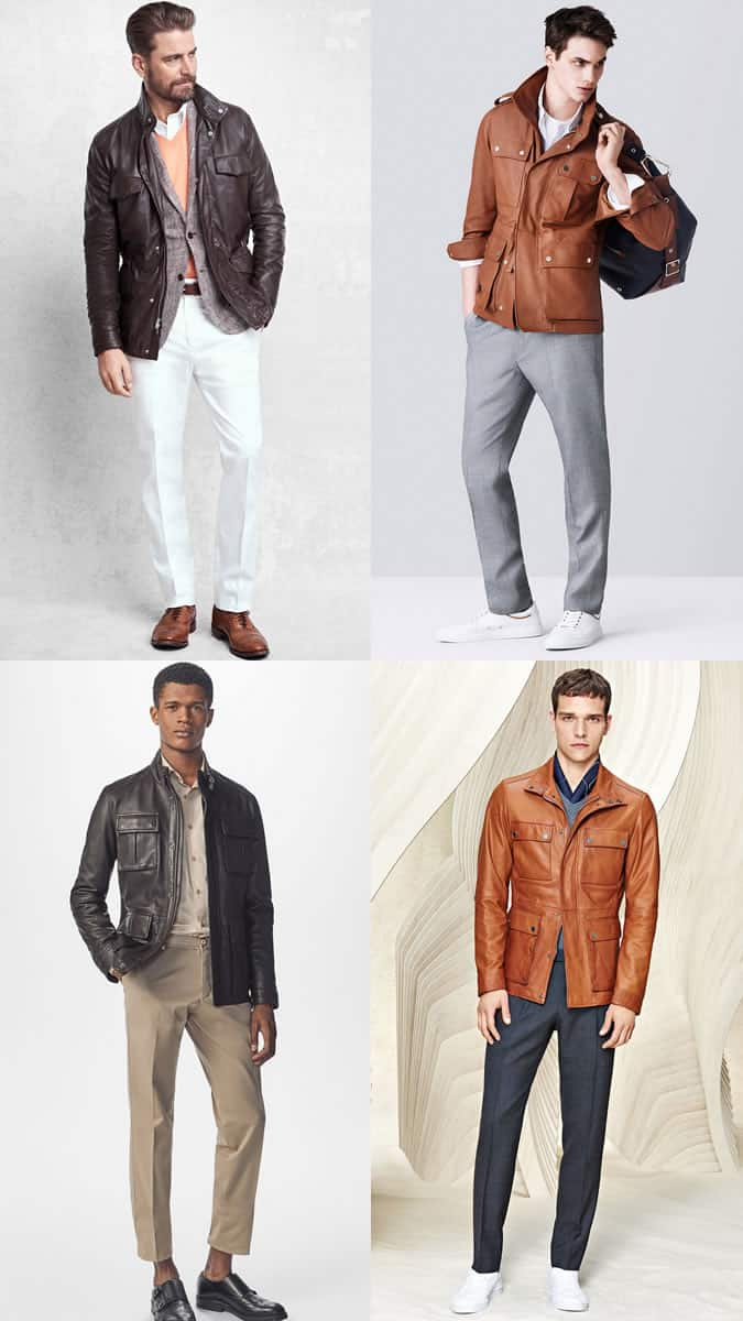 how to wear a leather field jacket