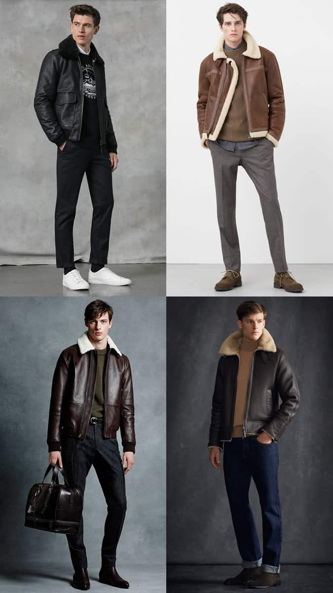 how to wear a leather flight jacket