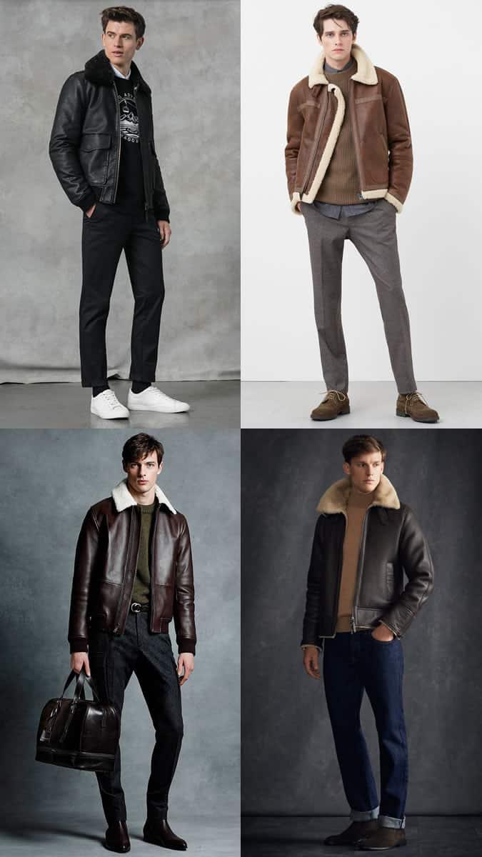 comment porter une veste de vol en cuir