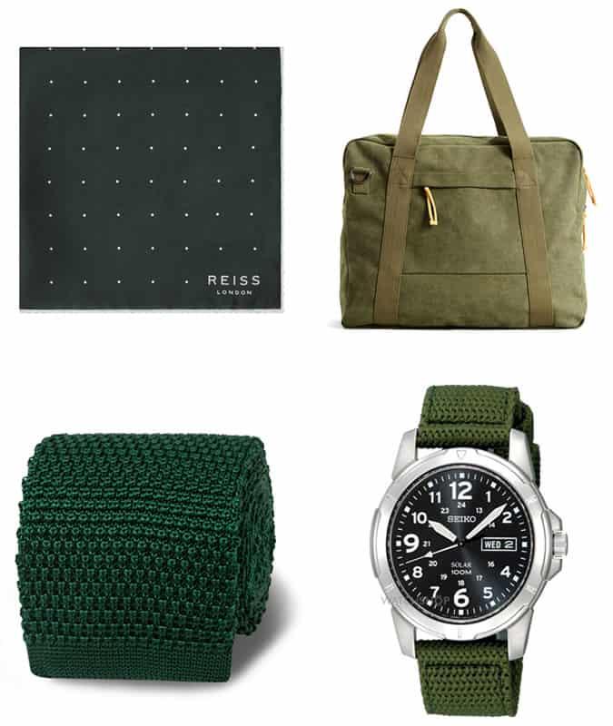 les meilleurs accessoires verts pour hommes
