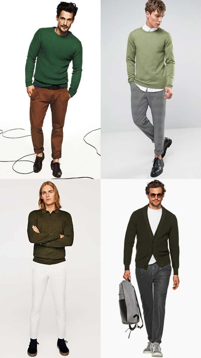comment porter des tricots verts