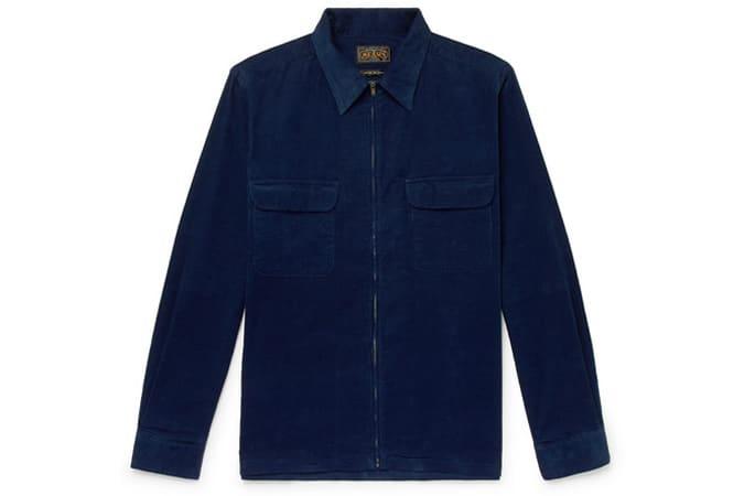 BEAMS PLUS Veste-chemise en velours côtelé de coton