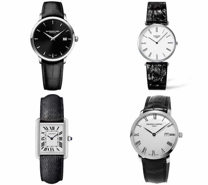 The best men's black tie dress watches