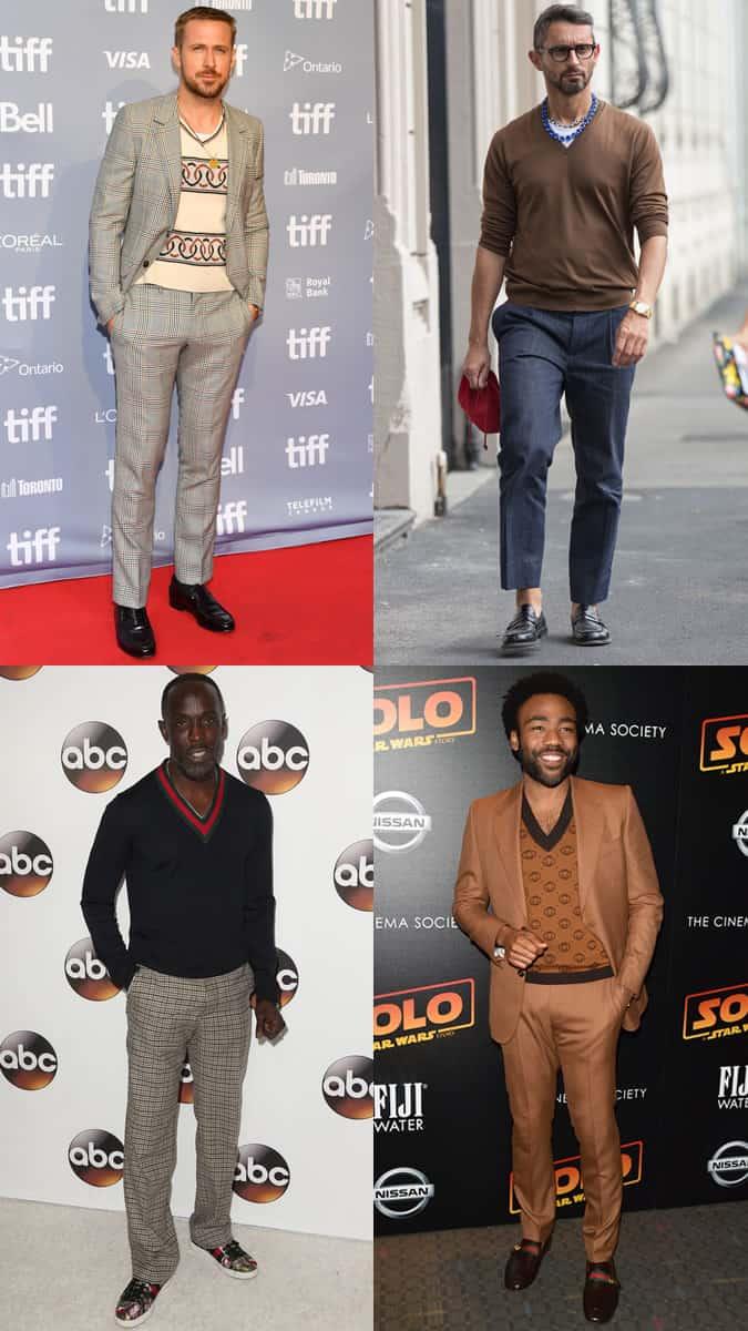 Célébrités portant un pull à col en V
