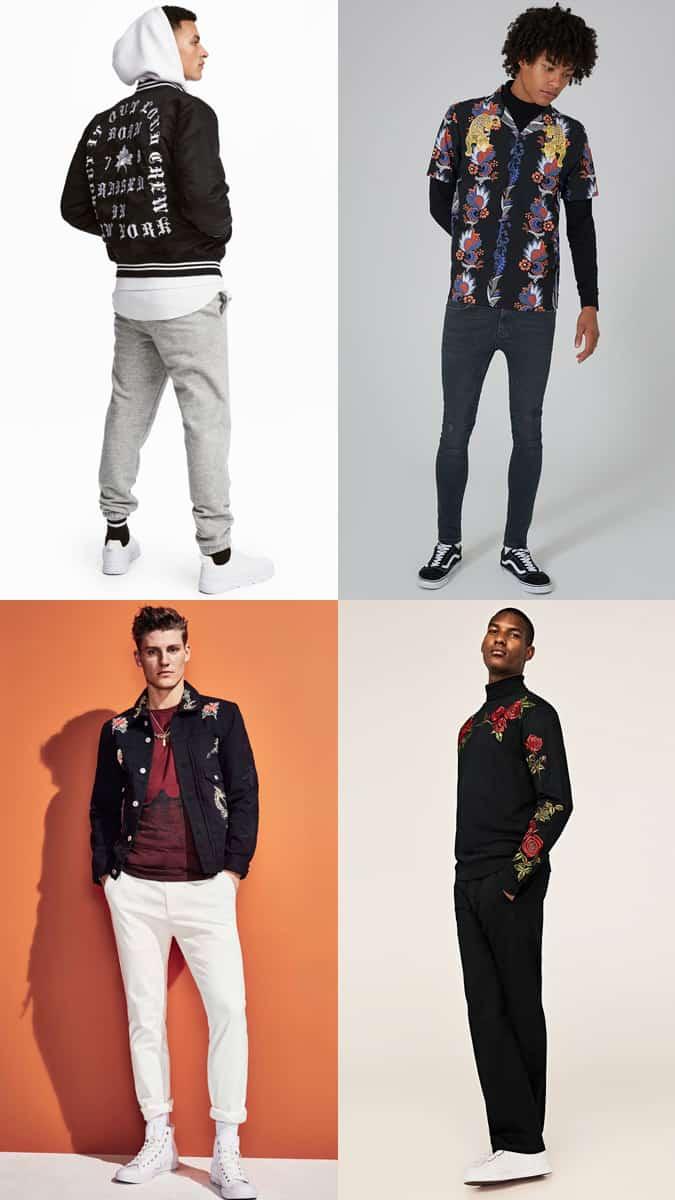 Comment porter la tendance veste et t-shirt brodé homme