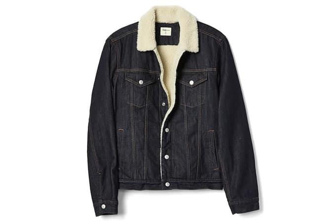Veste en jean doublée sherpa icon