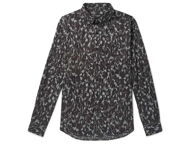 Chemise en flanelle de coton à col boutonné à col boutonné CLUB MONACO
