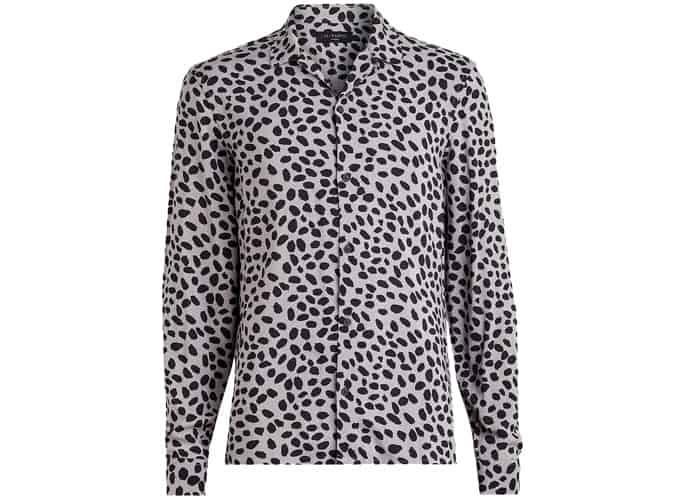 Chemise à manches longues coupe slim imprimé léopard AllSaints Piero