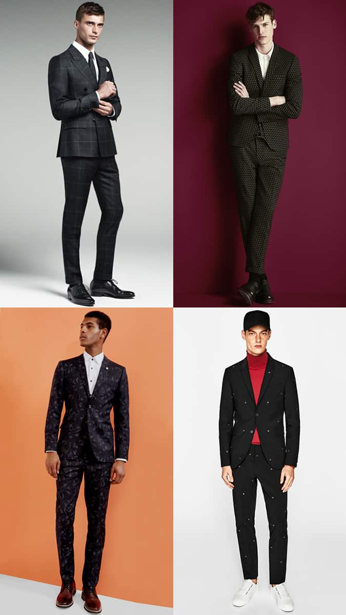 How To Wear A Black Patterned Suit