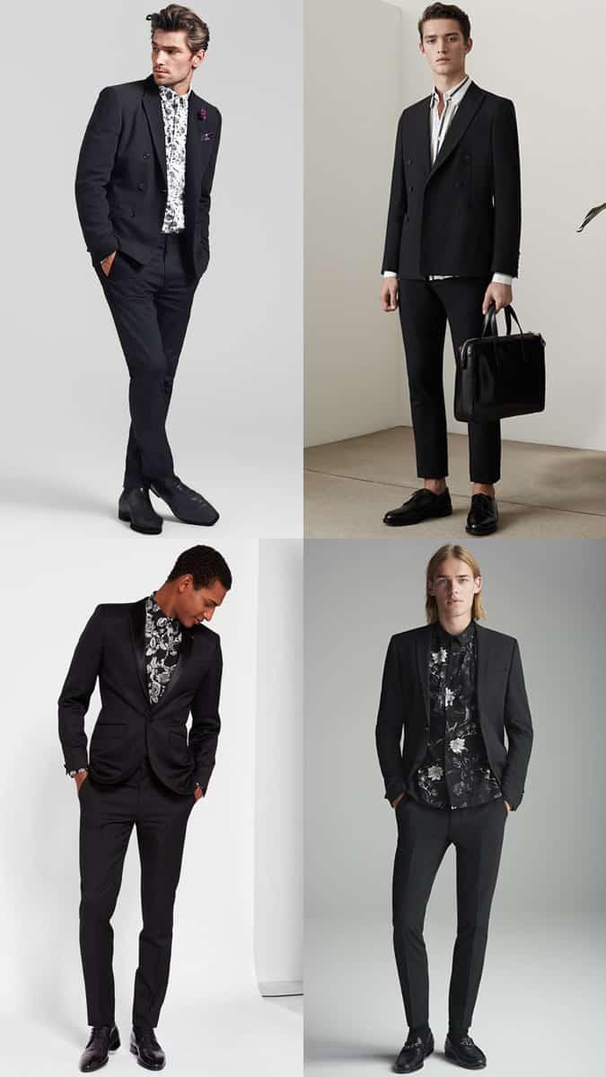 Comment porter des chemises imprimées avec un costume noir