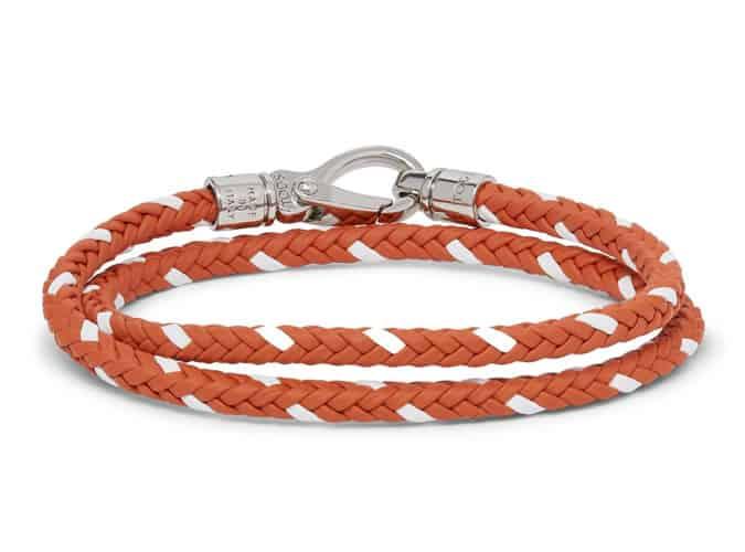 Bracelet portefeuille en cuir tressé Tod's
