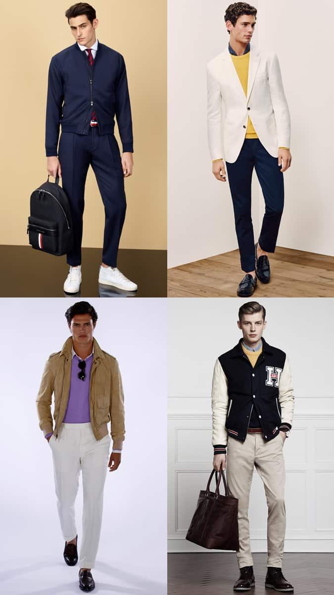 Tenues preppy aux couleurs vives pour hommes