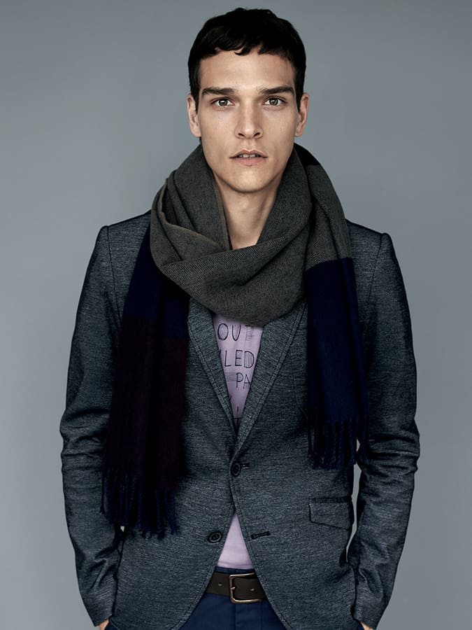 How To Wear A Scarf For Men - The Once-Around Tie