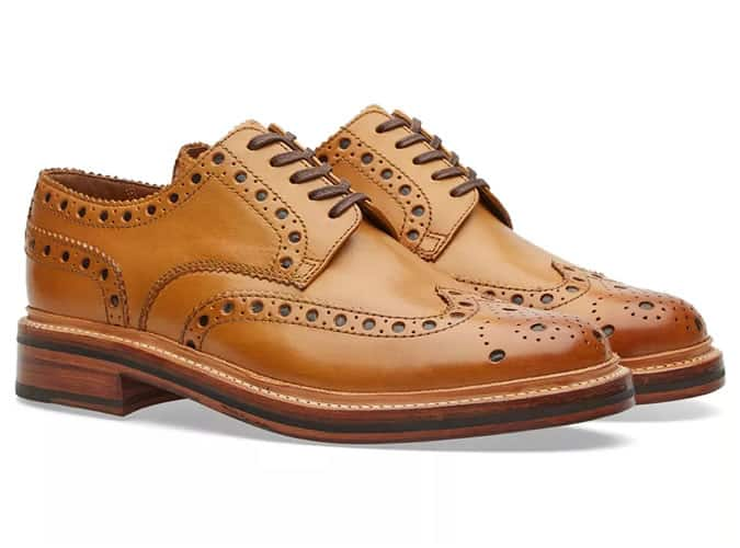 Chaussures brogue derby homme