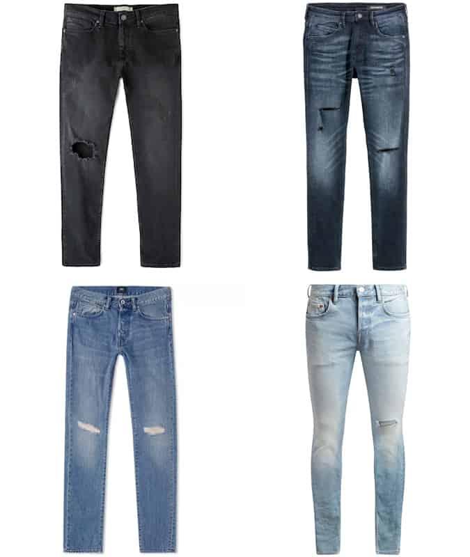 Le meilleur jean vieilli pour homme