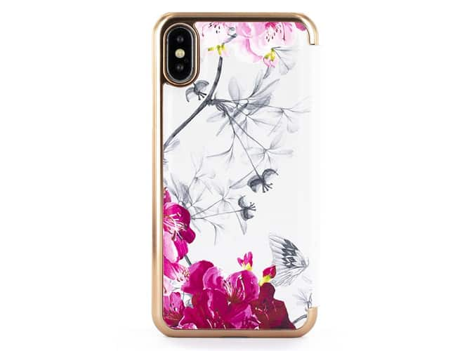 TED BAKER MIRROR FOLIO CASE FOR IPHONE X