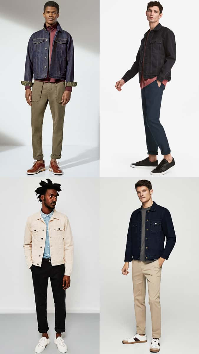 How To Wear A Denim Jacket With Chinos