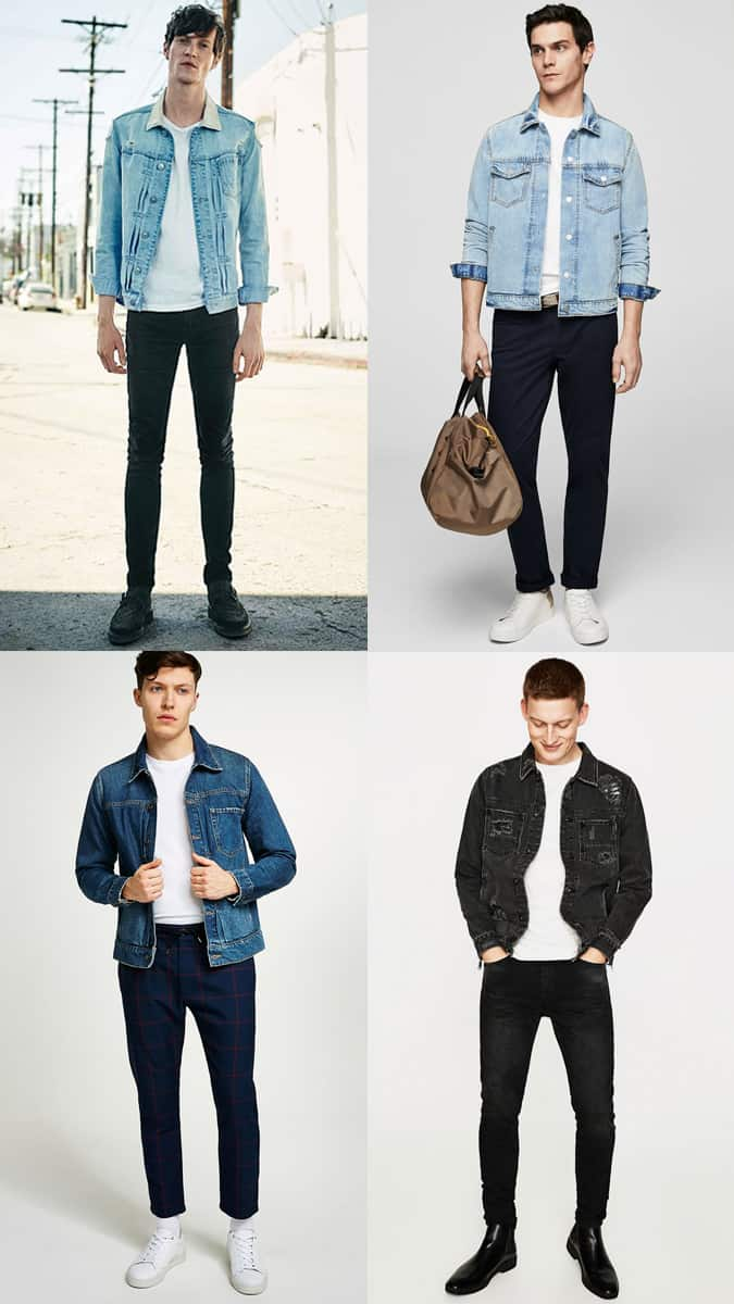 How To Wear A Denim Jacket With A White T-Shirt