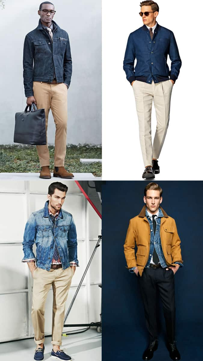How To Wear A Denim Jacket With A Shirt And Tie