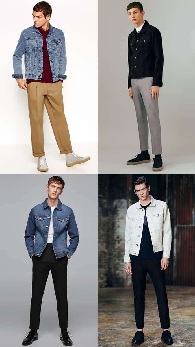 How To Wear A Denim Jacket With Tailored Trousers