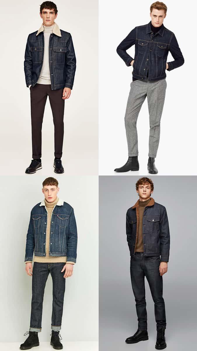 Comment porter une veste en jean avec un col roulé